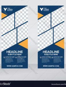 editable creative roll up banner design template royalty free vector pop up banner design template