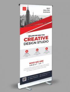 editable creative rollup banner design template 001971 pop up banner design template