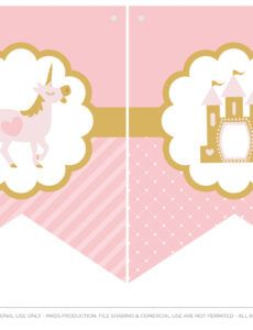 editable download the prettiest free little princess party printables princess banner template doc