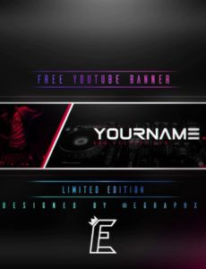 editable free!!  youtube music banner template  youtube music youtube banner template excel