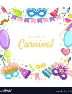 editable welcome to carnival banner template celebration vector image carnival banner template pdf