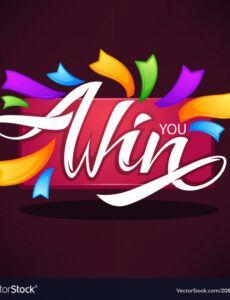editable you win congratulation banner template royalty free vector congratulations banner template