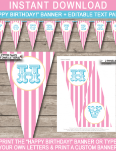 free carnival party banner template  pinkaqua carnival banner template excel