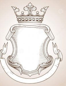 free coat of arms illustration 44588930  megapixl coat of arms banner template