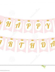 free cute pennant banner as flags with letters happy birthday in princess banner template excel