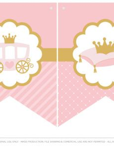 free download the prettiest free little princess party printables princess banner template word