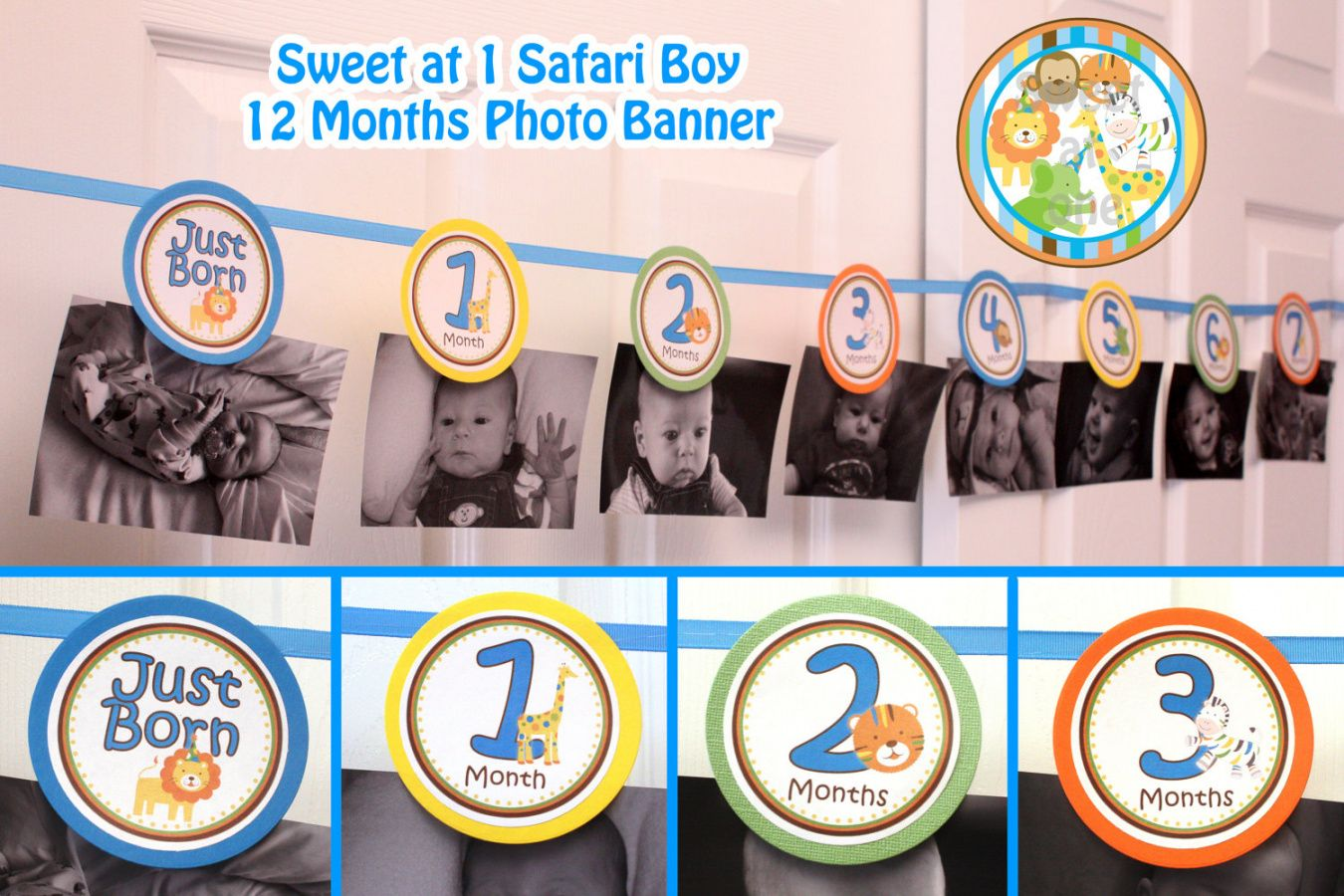 free first birthday photo banner template  best happy birthday first birthday photo banner template example