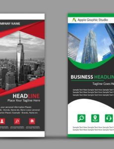 free how to design roll up banner for business  photoshop tutorial pop up banner design template doc