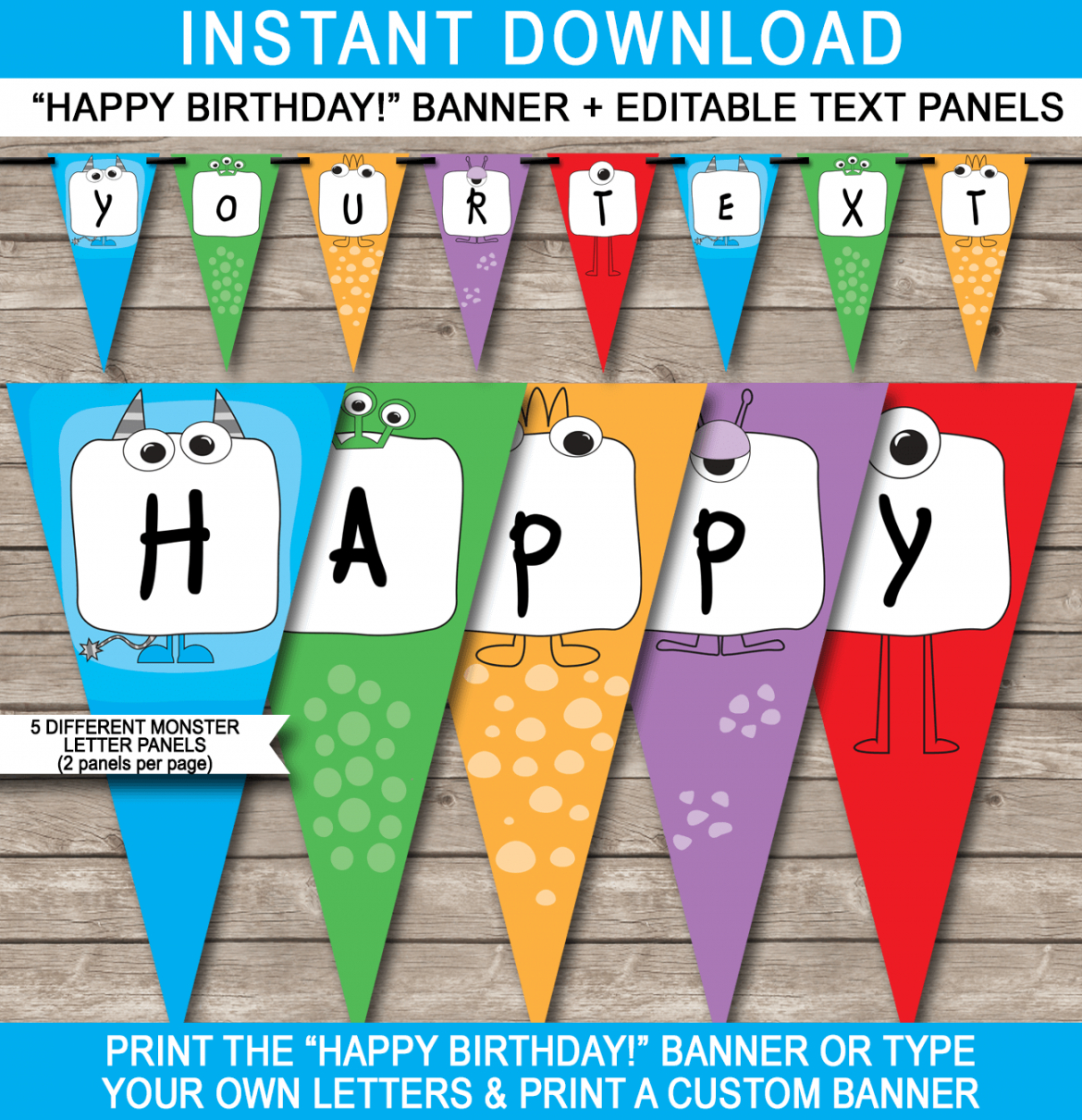 free monster party banner template party banner template word