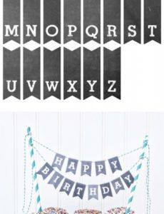 free printable chalkboard letters cake bunting  yellowblissroad cake banner template