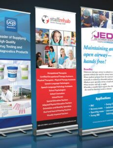 free trade show retractable banners  skydrivenmedia trade show banner template excel