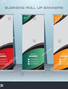 free vector de stock libre de regalías sobre roll banner design standing banner design template pdf