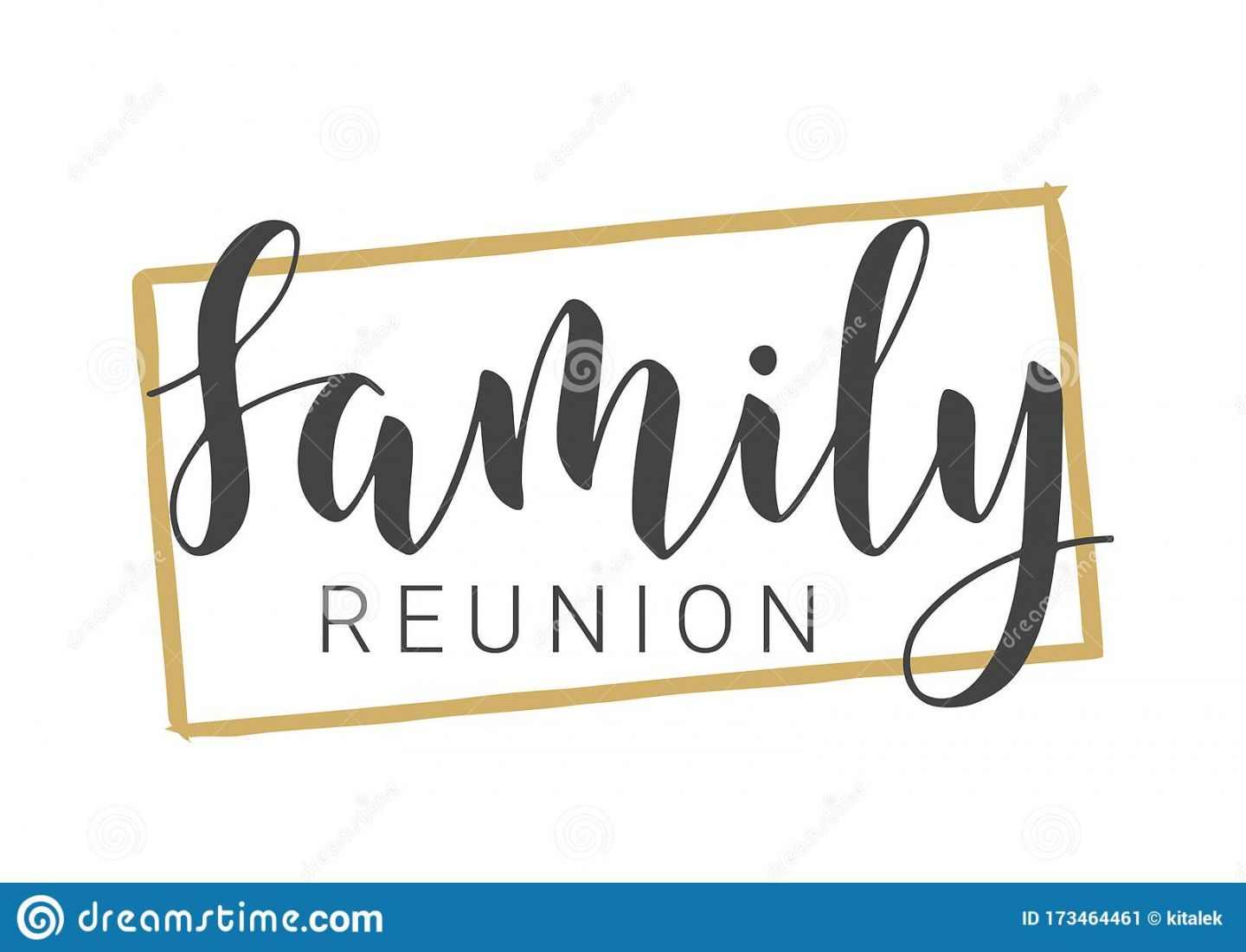 handwritten lettering of family reunion vector illustration family reunion banner template excel