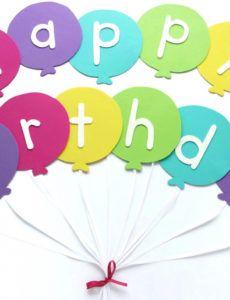 happy birthday banner diy template  balloon birthday banner first birthday photo banner template