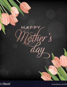 mothers day banner template with tulips flowers vector image mothers day banner template word