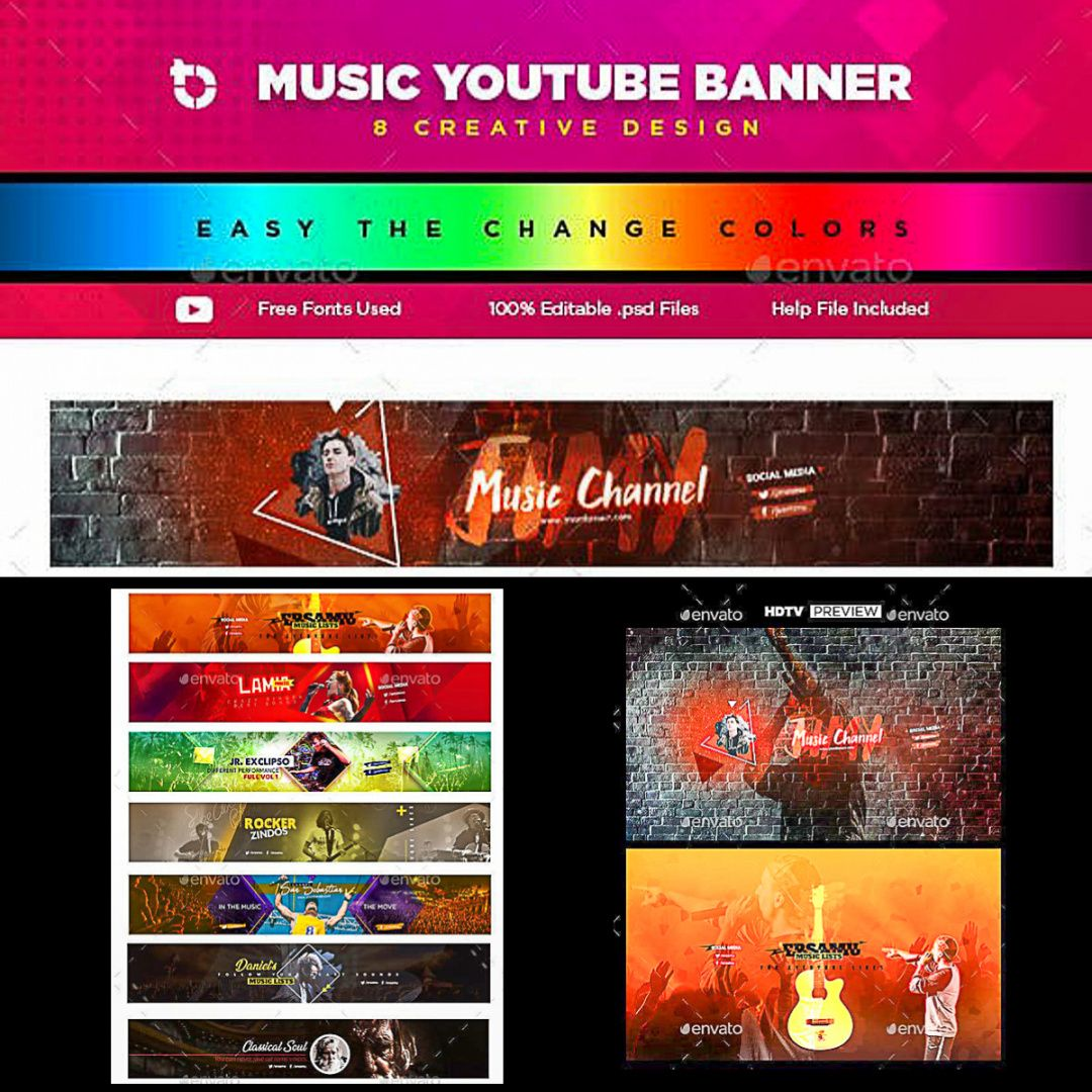 music youtube banner template  free download music youtube banner template doc
