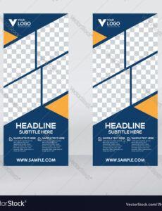 printable creative roll up banner design template royalty free vector pull up banner design template excel