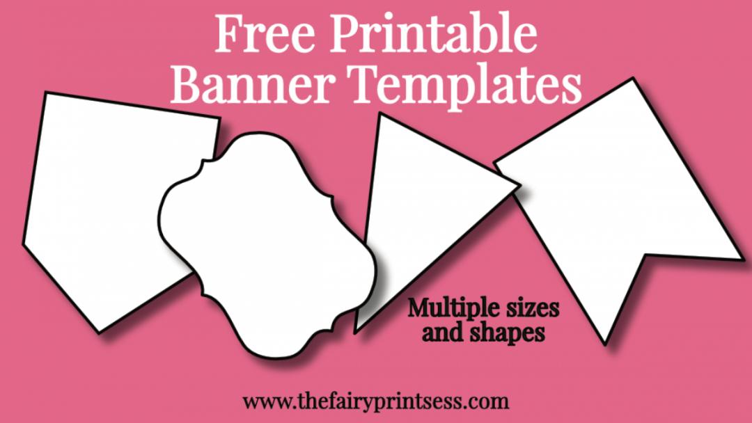 printable free printable banner templates  blank banners for diy bridal shower banner template example