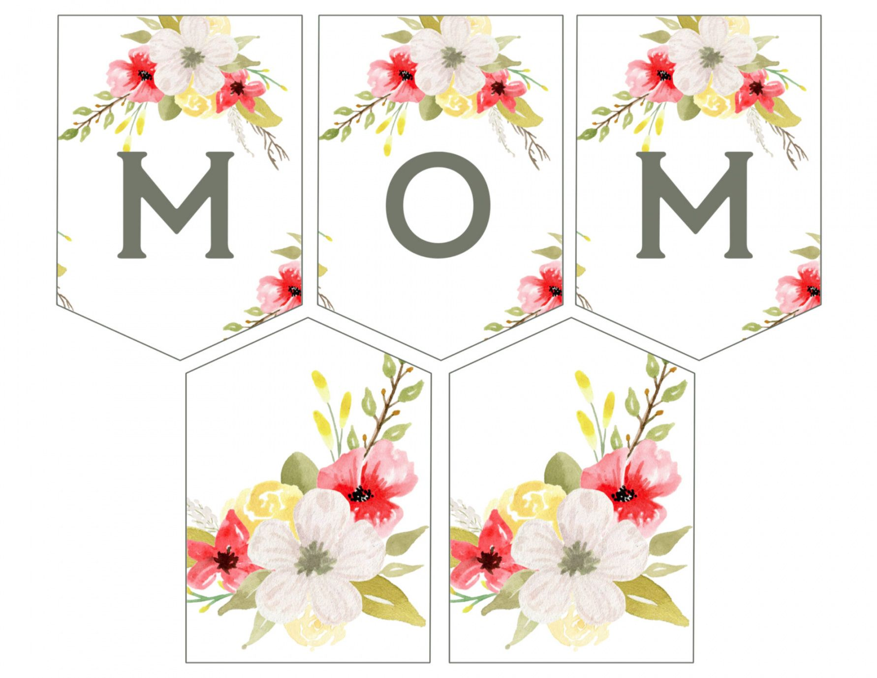 printable mother's day banner printable  paper trail design mothers day banner template example