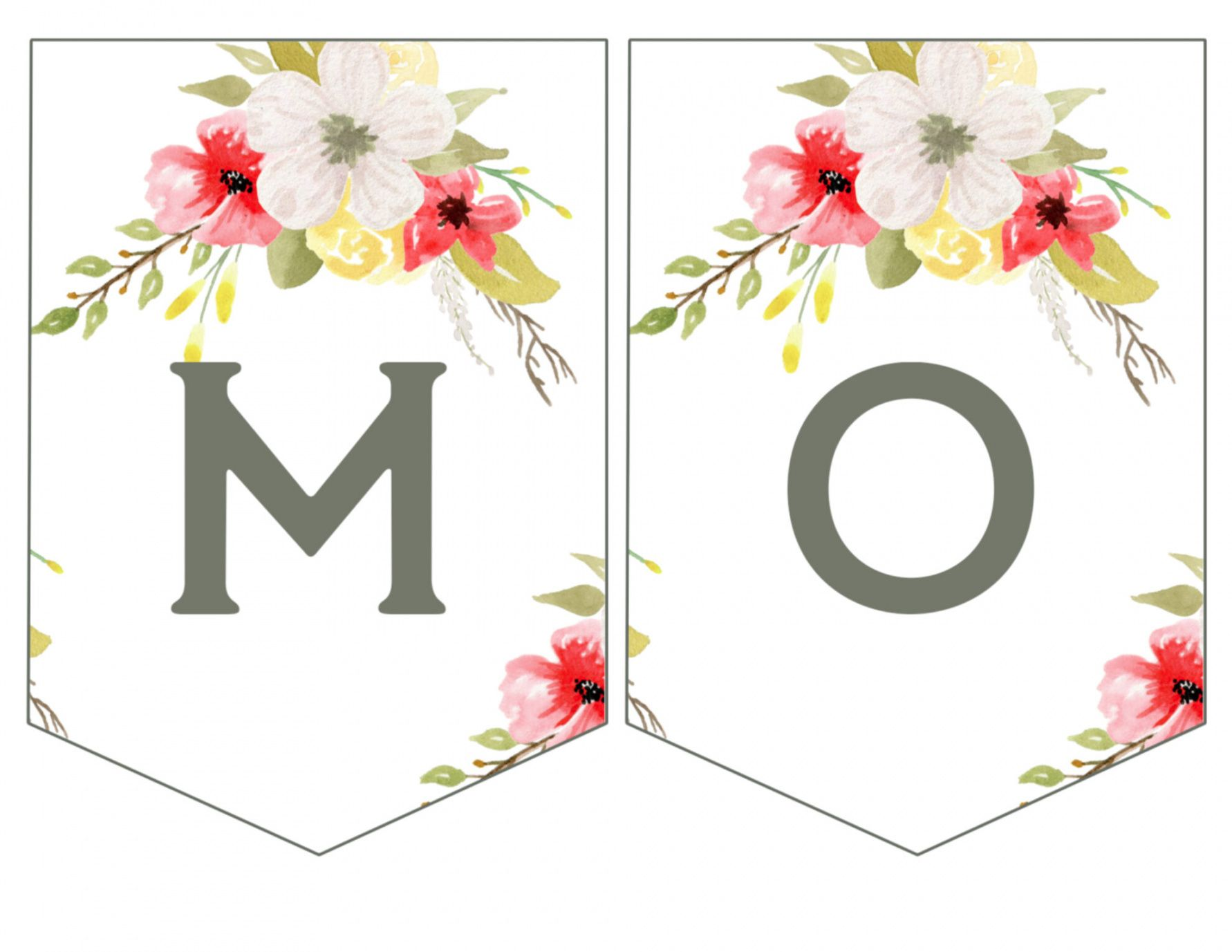 printable mother's day banner printable  paper trail design mothers day banner template
