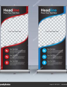 printable roll up banner design template vertical abstract background pull up  design modern xbanner rectangle size 180770276 pull up banner design template excel