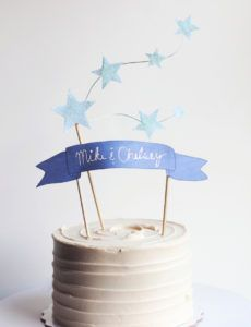 printable star and banner cake topper with free printables cake banner template excel