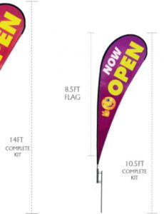 printable teardrop banner flags for advertising  featherflagnation teardrop banner template excel