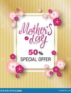 printable template design sale banner for happy mothers day stock mothers day banner template