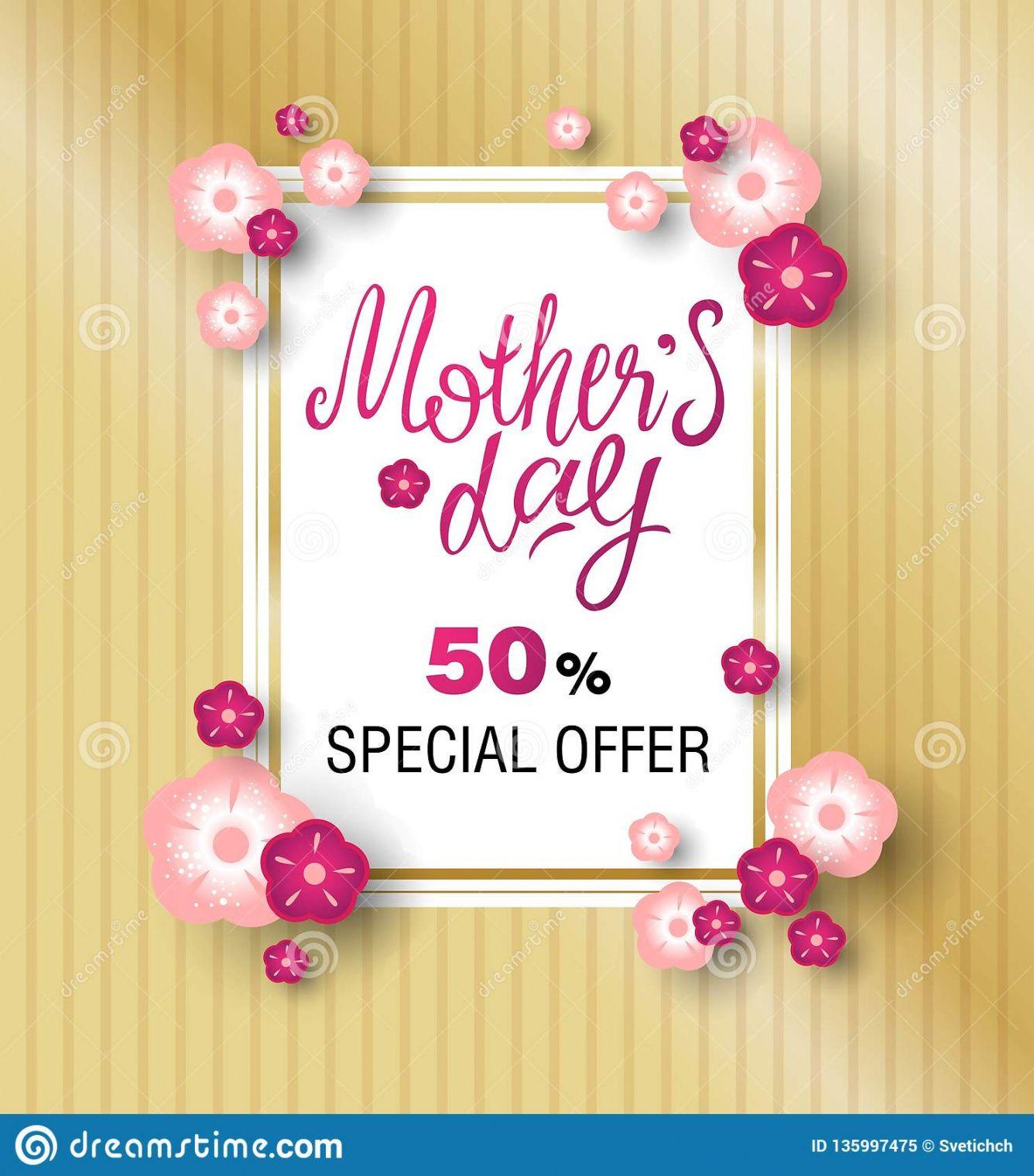 printable template design sale banner for happy mothers day stock mothers day banner template