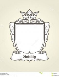 sample blank template of coat of arms  shield with crown and coat of arms banner template excel