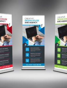 sample corporate rollup banner template pop up banner design template example