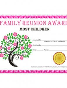sample free family reunion templates ~ addictionary family reunion banner template