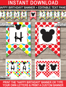 sample mickey mouse party banner template party banner template pdf