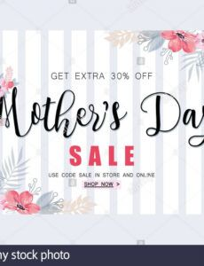 sample mothers day sale banner template for social media mothers day banner template excel