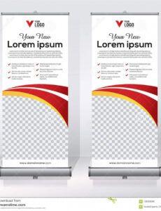 sample roll up banner design template vertical abstract pull up banner design template doc