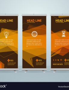 sample roll up banner stand design template royalty free vector standing banner design template word