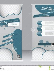 sample roll up banner stand template abstract background for standing banner design template example