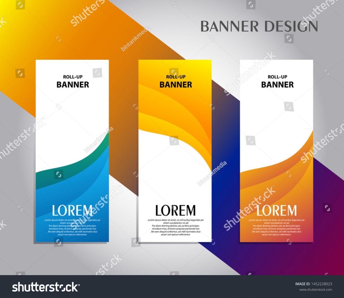 sample vector de stock libre de regalías sobre vertical banner standing banner design template doc