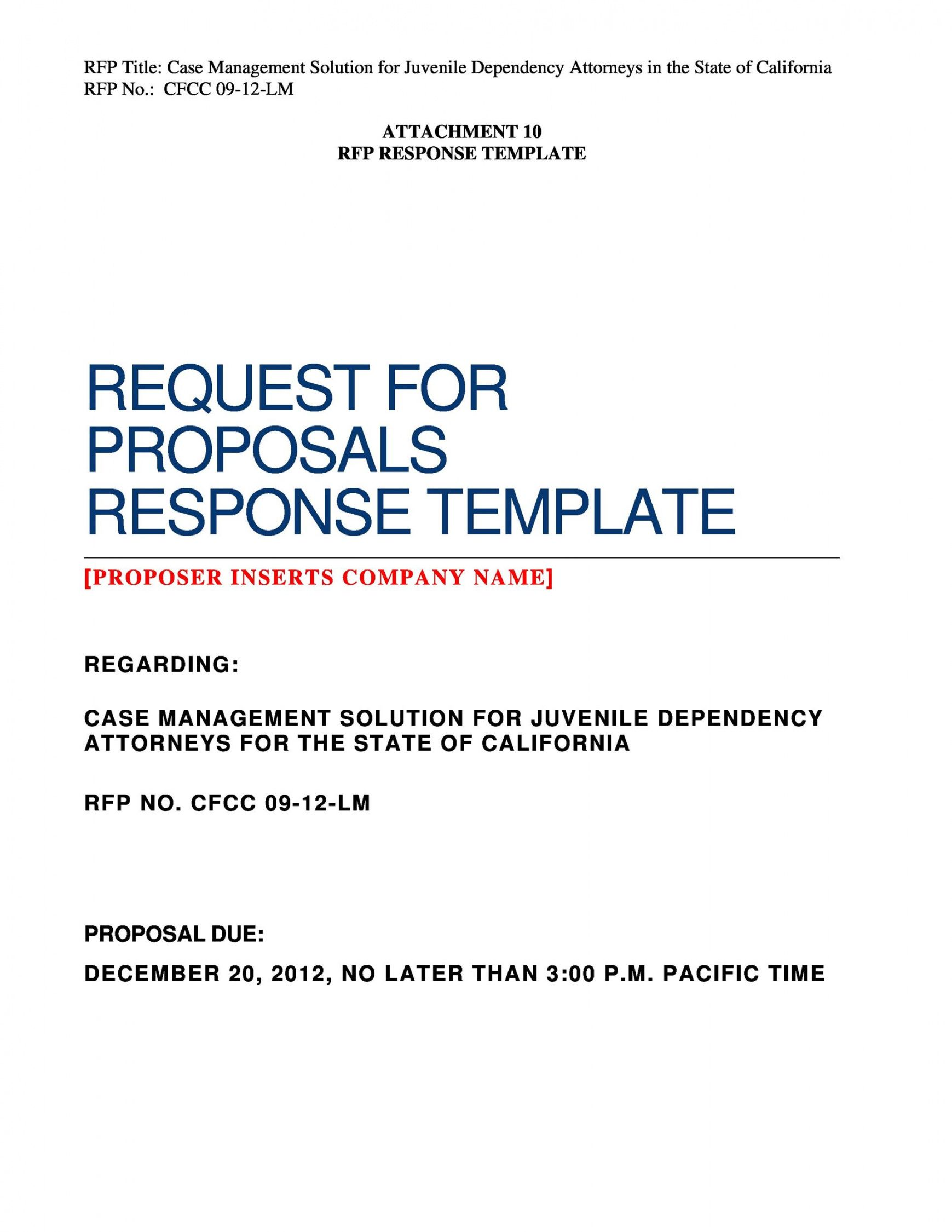 40 best request for proposal templates & examples rpf request for bid proposal template word
