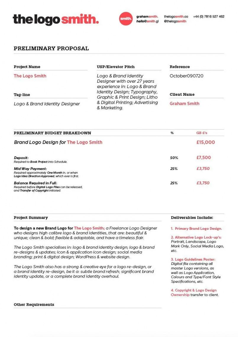 client proposal template for download 5 page format  the freelance design proposal template pdf