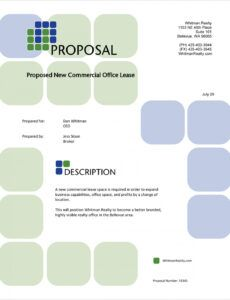 editable commercial office real estate lease proposal  5 steps commercial lease proposal template word