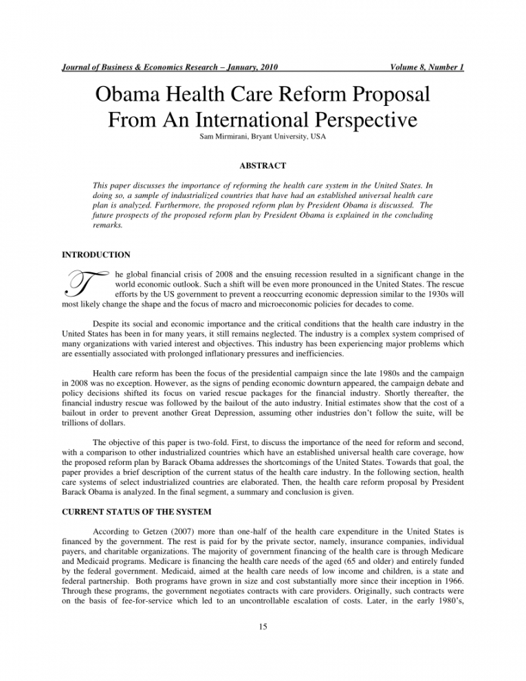 editable pdf obama health care reform proposal from an international health care proposal template pdf