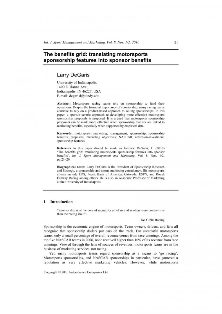 editable pdf the benefits grid translating motorsports sponsorship race car sponsorship proposal template