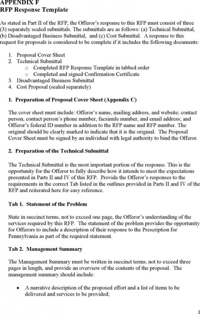 editable rfp response template  template free download  speedy template rfp proposal response template pdf