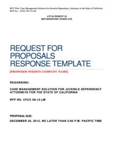 free 40 best request for proposal templates & examples rpf rfp proposal response template excel