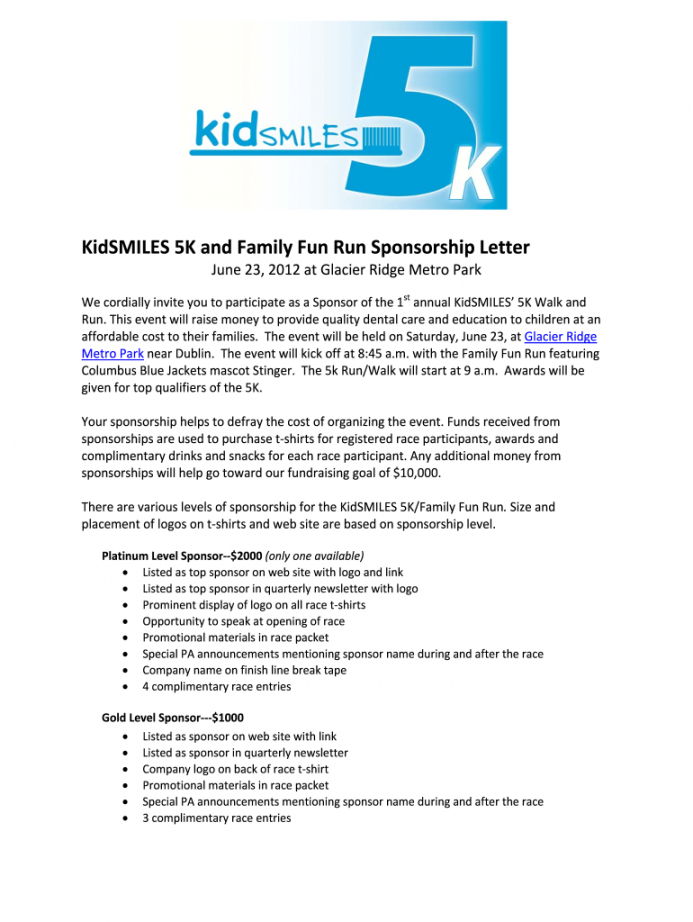 free fun run sponsorship letter  fill out and sign printable pdf template   signnow race car sponsorship proposal template doc