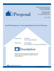 free real estate land development proposal  5 steps real estate development proposal template word