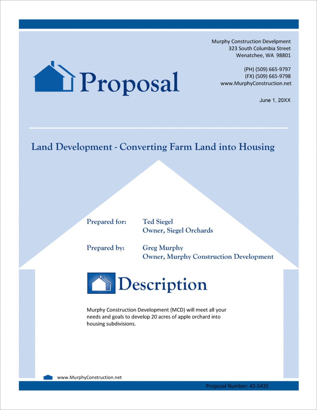 free real estate land development proposal  5 steps real estate development proposal template word