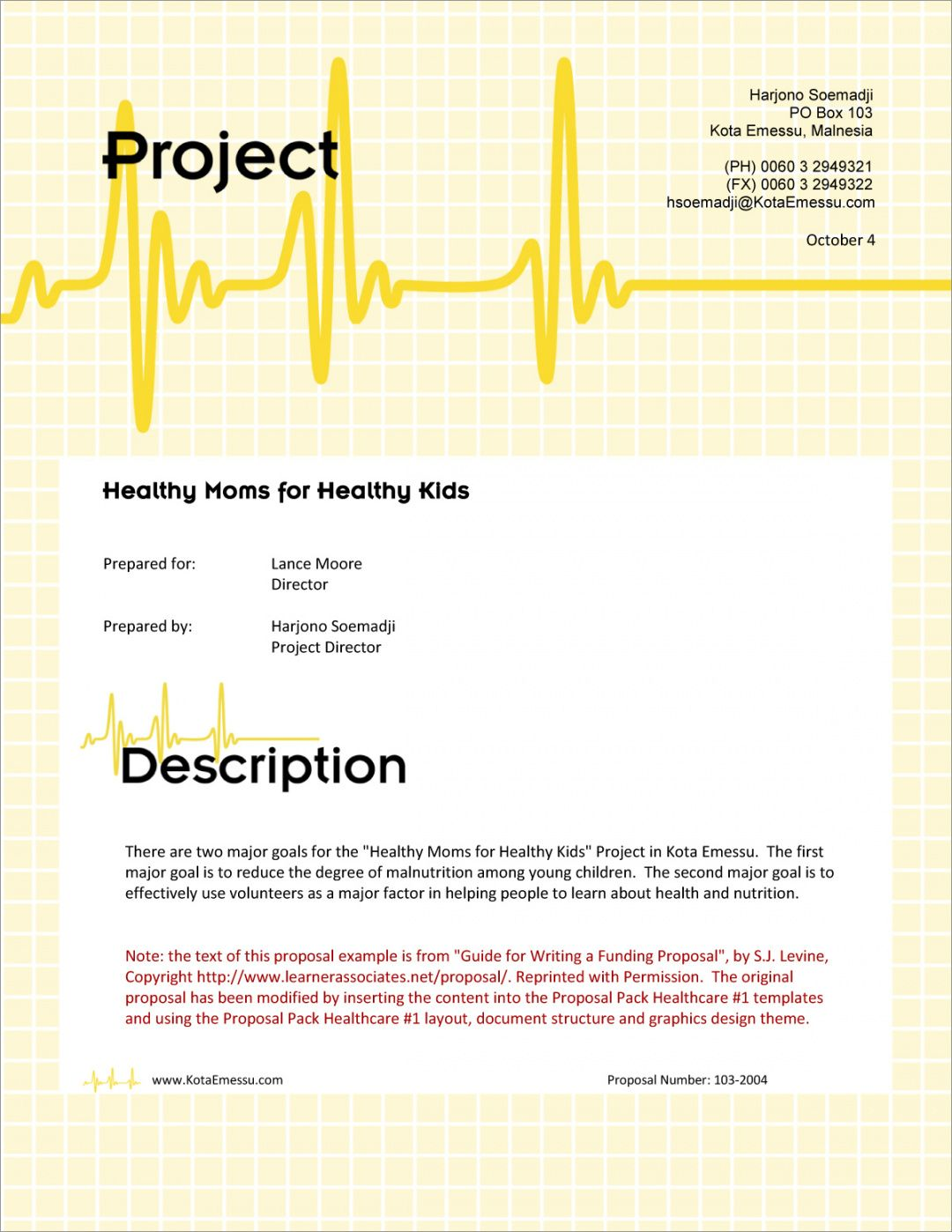 healthcare grant sample proposal  5 steps health care proposal template word