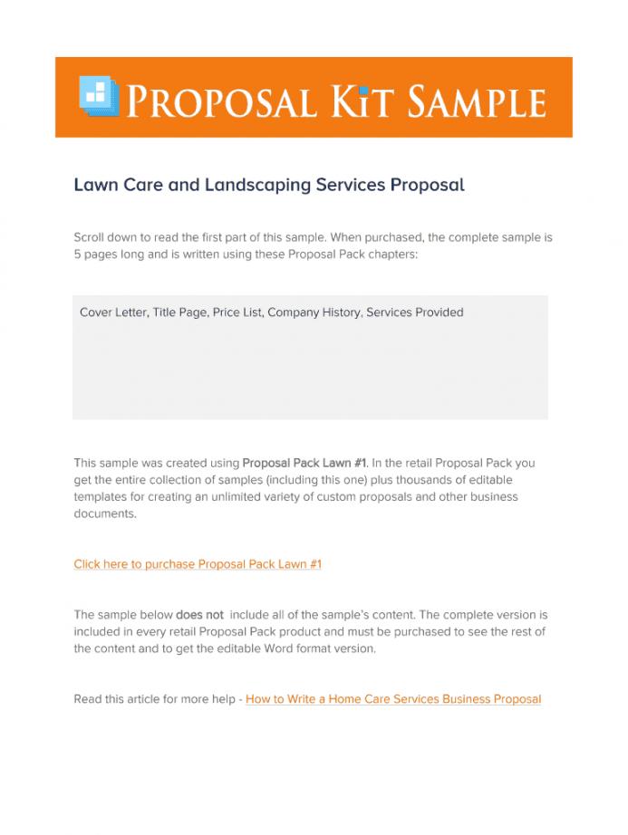landscape proposal template  fill online printable lawn care bid proposal template pdf